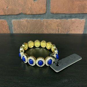J Crew NEW Blue and Gold Bracelet